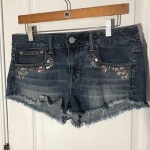 American Eagle Jeweled Festival Shortie Size 8